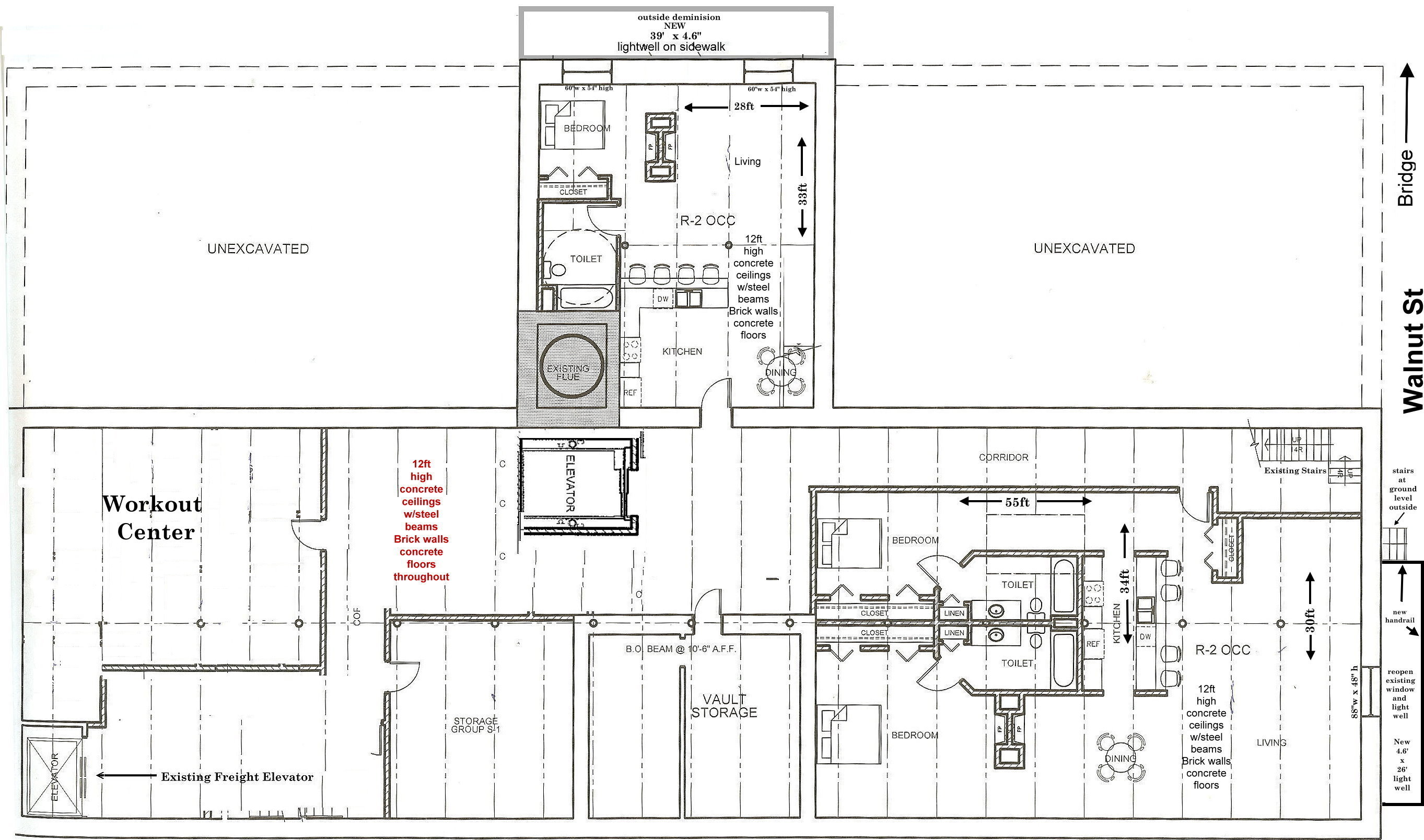 Lower Level Proposed Floor Plan